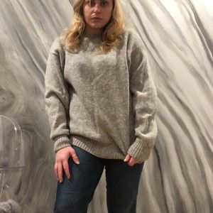 VINTAGE oversized wool sweater made in USA